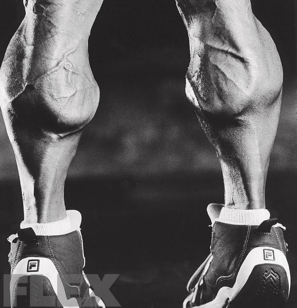Musculation des mollets avec haltères