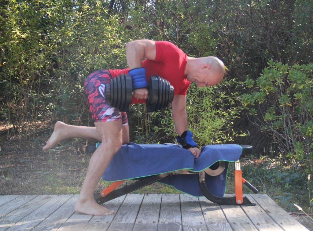 Rowing à un bras avec haltère (Fabrice Proudhon)